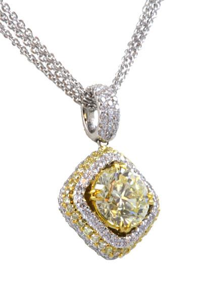 Dp 009ma 205 ct two tone yellow diamond pendant fine jewelry two tone yellow diamond pendant mozeypictures Images