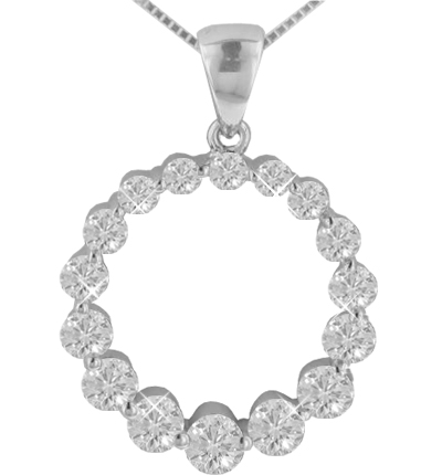 Dp 21ma 150 ct tw graduating round diamond circle of love pendant 150 ct tw graduating round diamond circle love pendant in 14 kt with 16 aloadofball Images