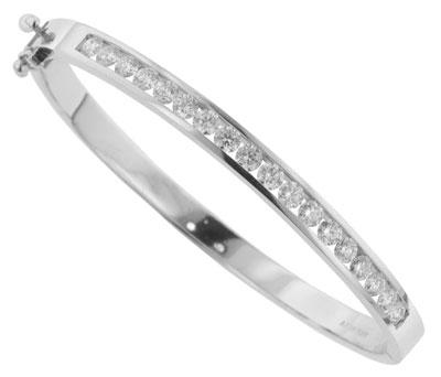 BB 001MA 3 00 Ct TW Channel Set Round Diamond Bangle Bracelet in