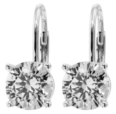 2 00 Ct Tw Round Diamond Drop Stud Earrings In 14 Kt French Back Mounts