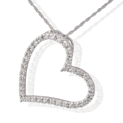 1.00CT JOURNEYS HEART LOVE SHAPE DIAMONDS PENDANT WITH 16