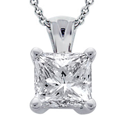 girl plated platinum pendant gold sterling jewelry princess color for cut diamonds white synthetic diamond brilliant silver item