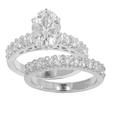 2.10 Ct. TW Round Diamond Engagement Ring with Wedding Band