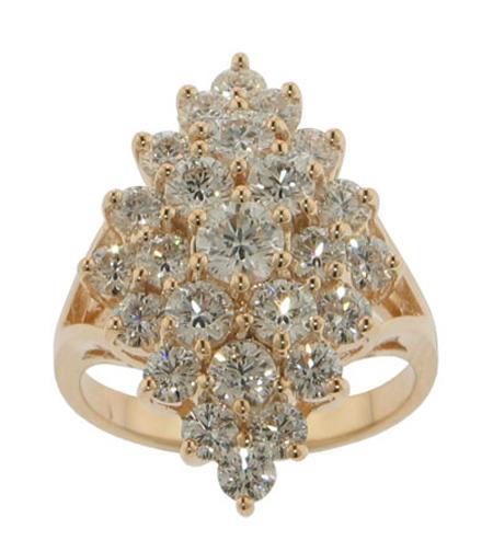 Ab224yma 3 00 Ct Tw Round Cut Diamond Anniversary Cluster
