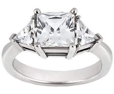 0a5217581d5b7 DR359MA 1.70 ct. TW Princess and Trillion Cut Diamond Three Stone ...