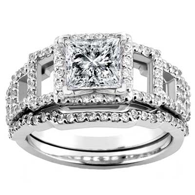 WR3231MA 225 Ct TW Princess Cut Diamond Engagement Ring with
